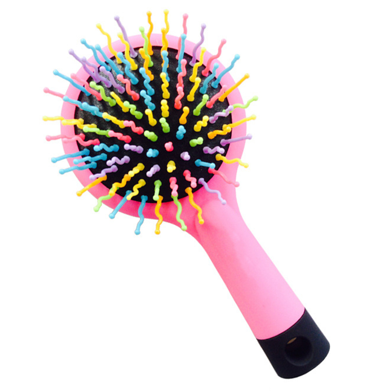 1PC Hair Comb Professional Rainbow Comb Rainbow Volume Anti-static Magic Hair Curl Straight Massage Brush Mirror Styling Tools
