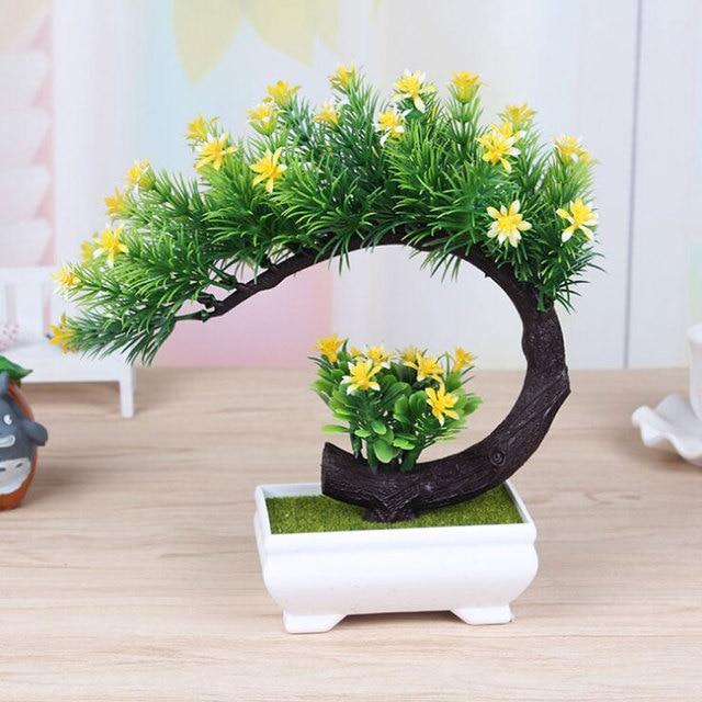 2017 New Artificial Flower Bonsai Tree For Fl Decor Simulation Flores Artificiais Desktop Display Fake