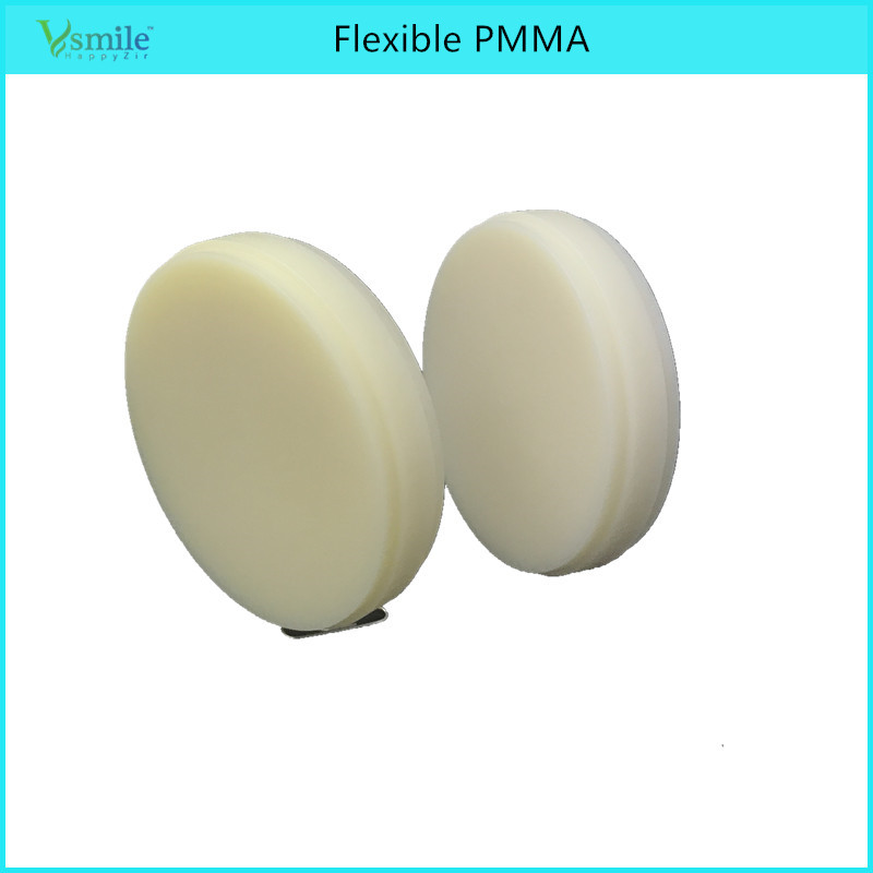 Flexible PMMA 3 Pieces A Lot CAD CAM System Dental Milling Dental Flexible Acetal PMMA Blank OD 98mmx14mm Color A0 A1 B1 Clear