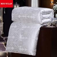 Smooth Silk Like Jacquard Inner Duvet Cover for DIY Silk Quilt Twin Full Queen King White Pink Model 05