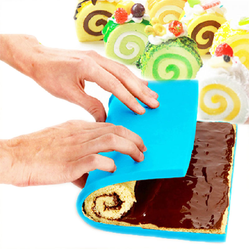 Silicone Cake Roll Mold Baking Mold Swiss Mat West Point Baking Pan Plate Rectangular Kneading For