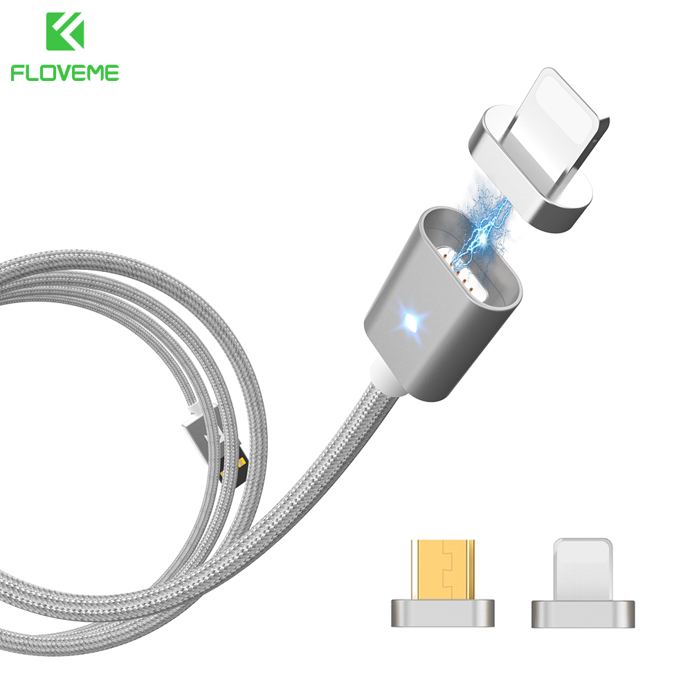 FLOVEME Magnetic USB Cable For iPhone 5 6 7 Charger Cable Magnetic Charging Cable For Samsung Micro Usb Cable & Magnetic Adapter