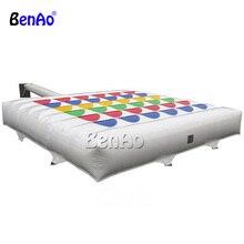 S338 BENAO Бесплатная доставка гигантские надувные шахматы Надувные Мега игру Твистер с заказной размер для наружного игры