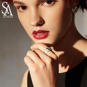 Image 3 - SA SILVERAGE แท้ Medusa Series 925 เงินสเตอร์ลิง Engagemant งานแต่งงานแหวนเงิน 925 สีชุบแหวนผู้หญิงเครื่องประดับ