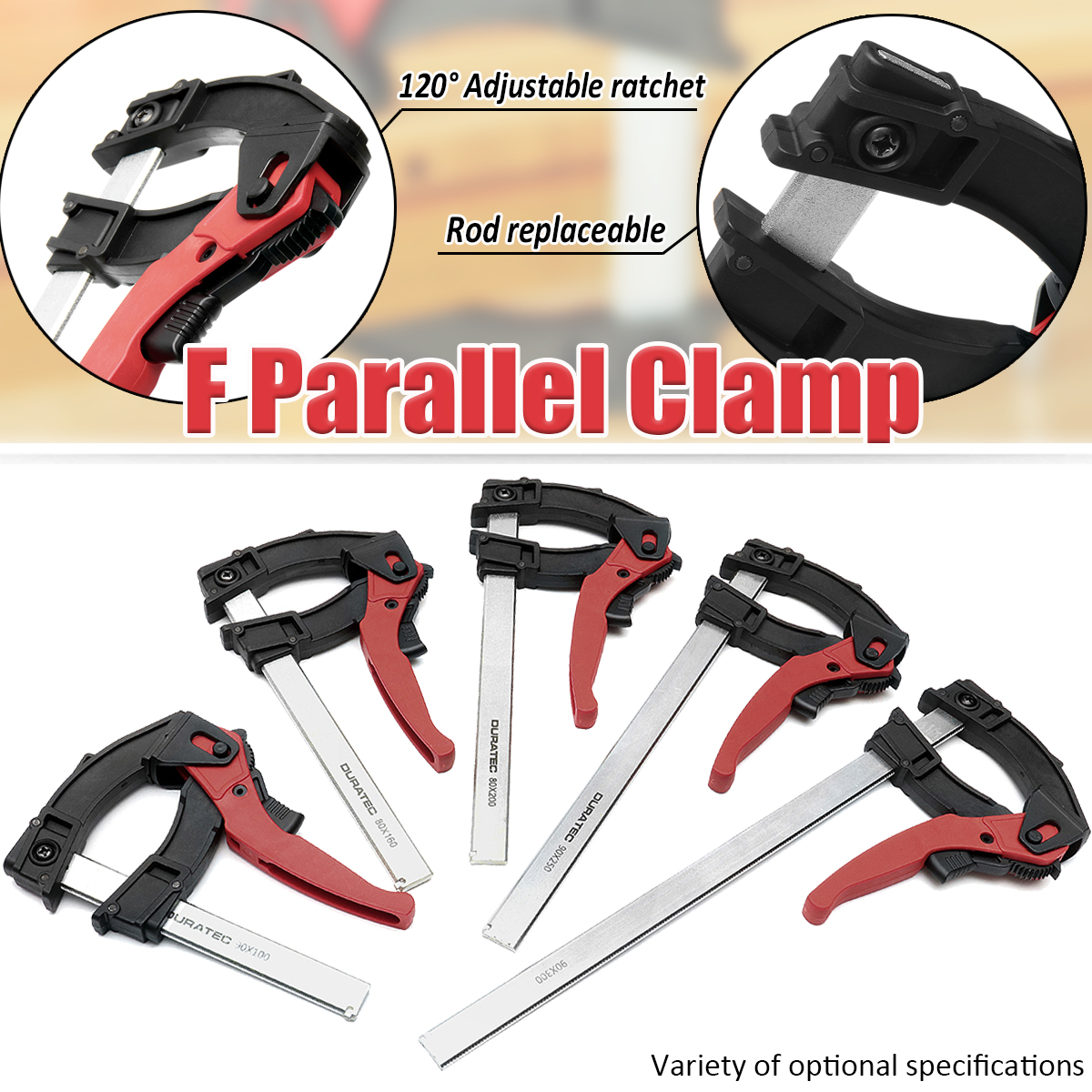 120 Degree Adjustable Quick Grip Clamps Woodworking Heavy   F Clamp 90x 100/160/200/250/300mm DIY Hand Hardware Tool120 Degree Adjustable Quick Grip Clamps Woodworking Heavy   F Clamp 90x 100/160/200/250/300mm DIY Hand Hardware Tool