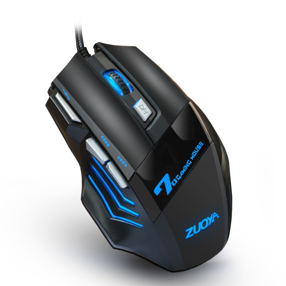 ZUOYA 5500 DPI Gaming Mouse 7 Button LED Optical Wired USB Mouse Mice Game  Mouse Silent/sound Mause For PC Computer Pro Gamer - Best Selling Bargains