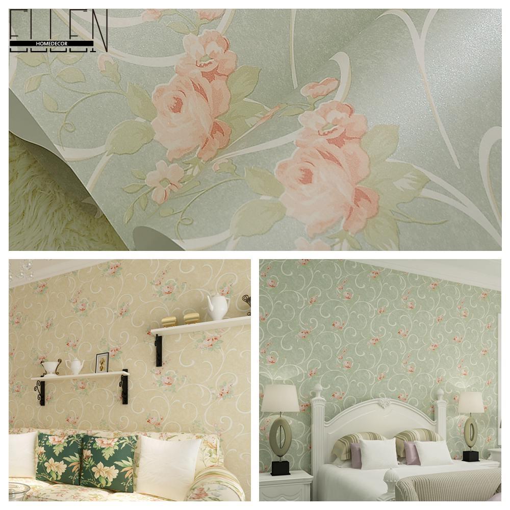 Online kopen Wholesale vintage bloemen behang uit China vintage ...