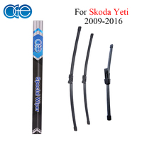 Combo Silicone Rubber Front And Rear Wiper Blades For Skoda Yeti 2009Onwards Windscreen Wipers Car Accessories