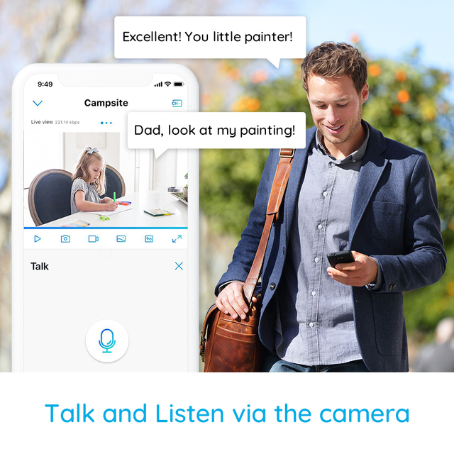 Reolink 4MP WiFi Camera Pan&Tilt 2-Way Audio Motion Detection 2.4G/5Ghz Smart Home Video Surveillance E1 Pro 6
