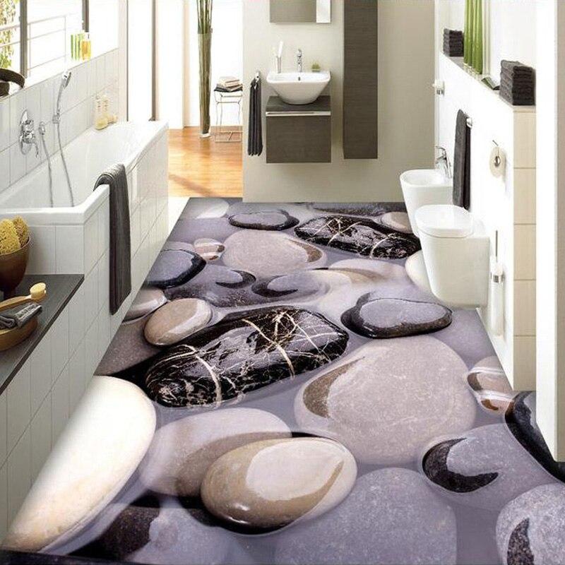 US $13.2 55% di SCONTO Custom 3D Pavimento Murale Carta Da Parati  Stereoscopico Ciottoli Cucina Bagno Floor Sticker PVC adesivo Carta Da  Parati In ...
