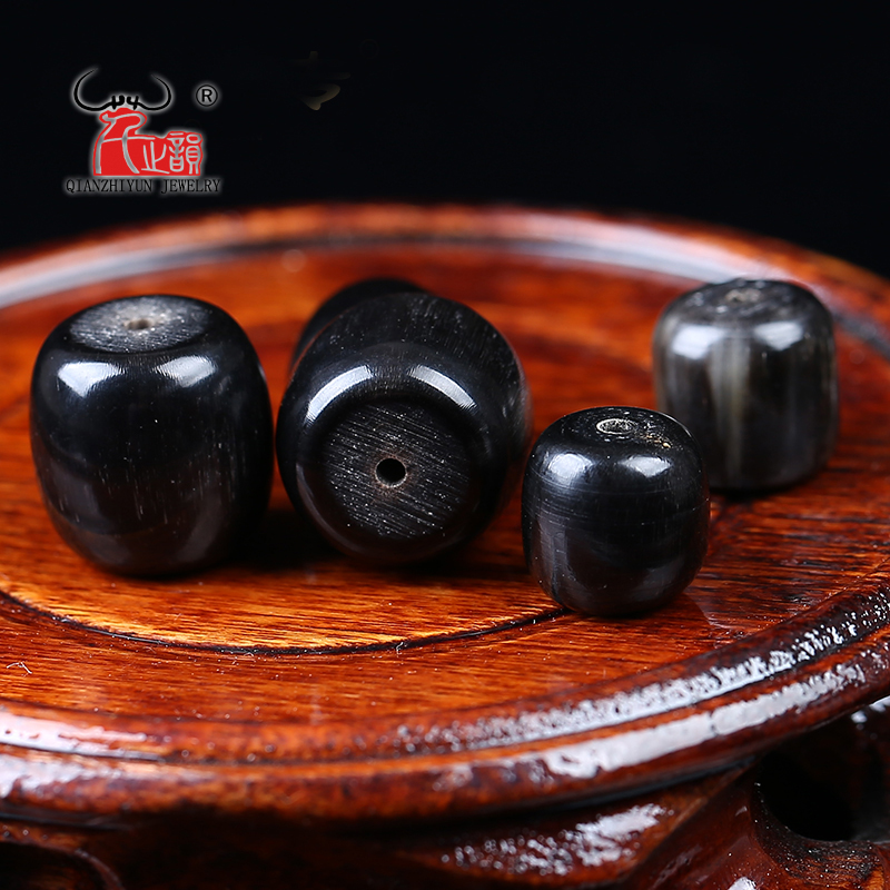 5PCS Natural water buffalo horn bucket bead star in the hand string DIY accessories.