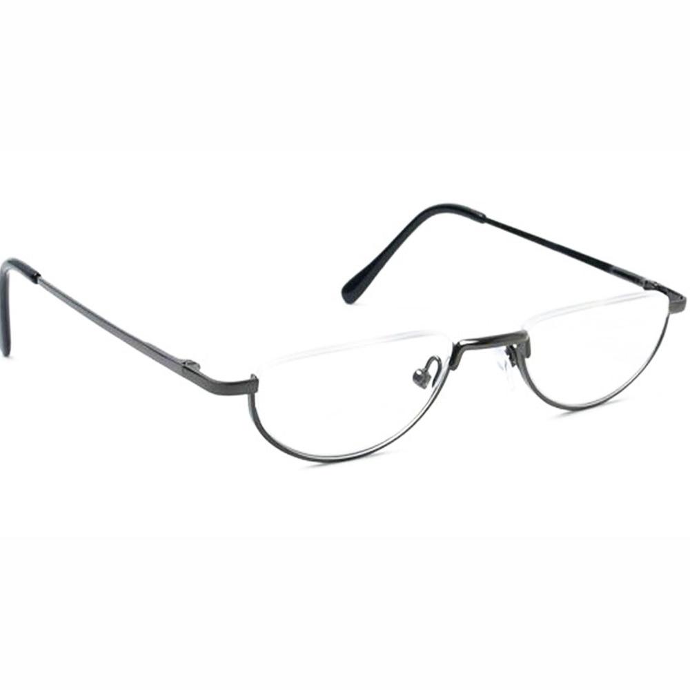 2a80585e5a5e2 Agstum Meia Lua Dobradiça de Mola Do Vintage Armações de óculos Óculos de  Leitura + 1