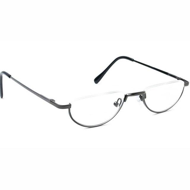 6f468fd2e25 Agstum Half Moon Vintage Spring Hinge Eyeglass Frames Reading Glasses +1  +1.75 +2 +3 +4