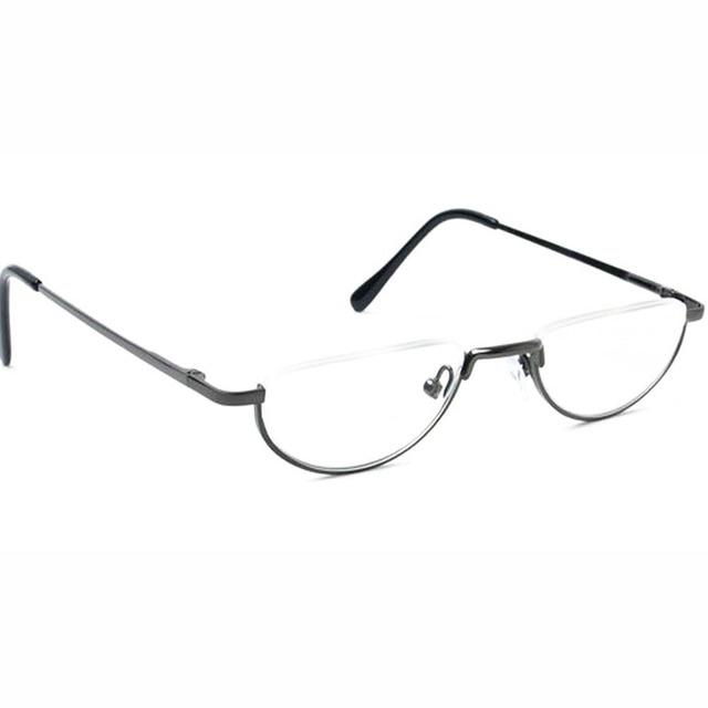 d12501ee4 Agstum Meia Lua Dobradiça de Mola Do Vintage Armações de óculos Óculos de  Leitura + 1