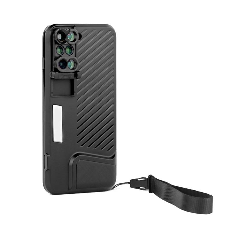 bilder für 2017 neue 6-in-1 Dual-kamera Objektiv Für iPhone 7 Plus Kamera Fisheye Weitwinkelmakroobjektiv Teleskop-objektiv Mit Telefon Fall Abdeckung