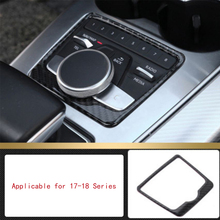 1 Pc Interior Modification Mini CD GPS Display Panel Stickers Car Styling Protector Pad Moulding for Audi Q5 10-17 1 pc carbon fiber car interior trim control panel stickers for audi q5 10 17