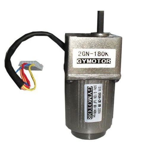 AC 220V Single phase gear motor, 6W AC regulated speed motor with gearbox. цена