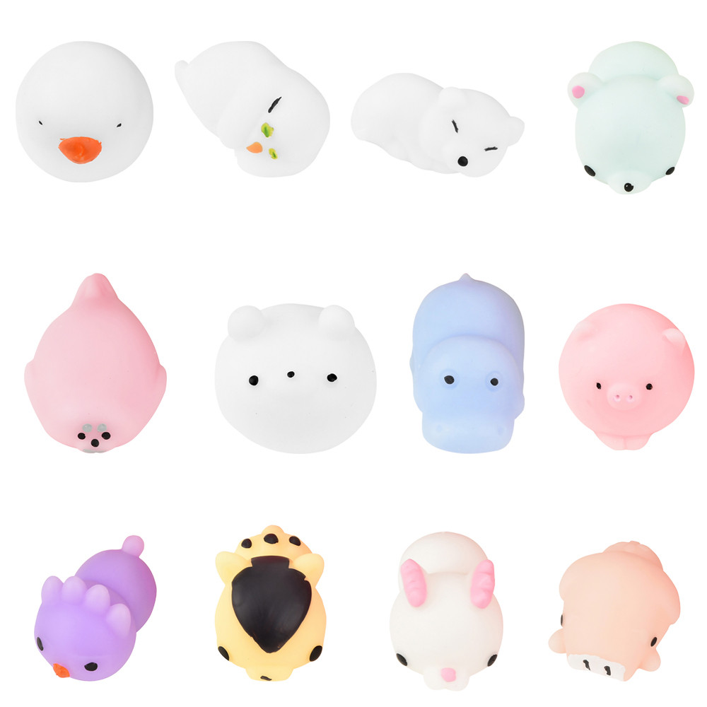 Cute Carton Animal Squishy Panda Squeeze Healing Fun Kids Kawaii Toy Stress Reliever Decor Squishes Slow Rising Toys A1