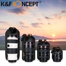 Wholesale prices K&F CONCEPT Camera Lenses Pouch Soft Protective Portable Neoprene Lens Case Bag 4 Sizes Canon Nikon DSLR Digital SLR Camera Bag