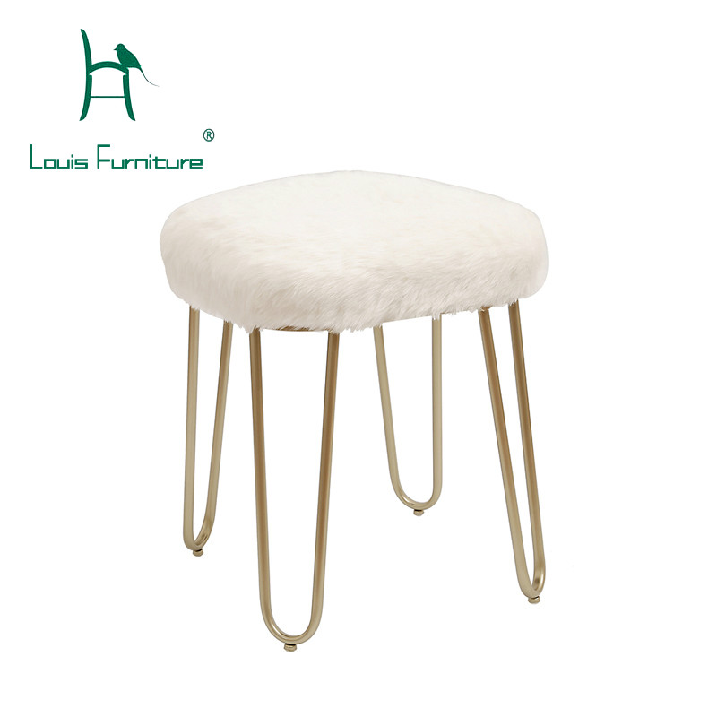 Living Room Furniture Louis Fashion Stools Ottomans Modern Simple Customized Nordic Pu Saddle Cloth For Shoes Creative Makeup Easy To Use