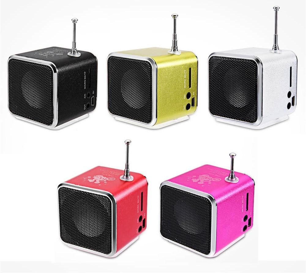 Nuovo Caldo TD-V26 Mini Altoparlante portatile Altoparlante portatile radio con il Digitale e Micro SD/TF/USB/Radio FM