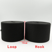1Meter Black Hooks And Loops  ( no glue ) DIY Clothing Self Adhesive Medical Use Fastener Sewing Accessories