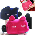 2016 Hot Cute Cartoon Cat Women Cosmetic Pouch Bags Organizer Case Clutch Wallet Coin Phone Storage Case Travel Makeup Tool Kit