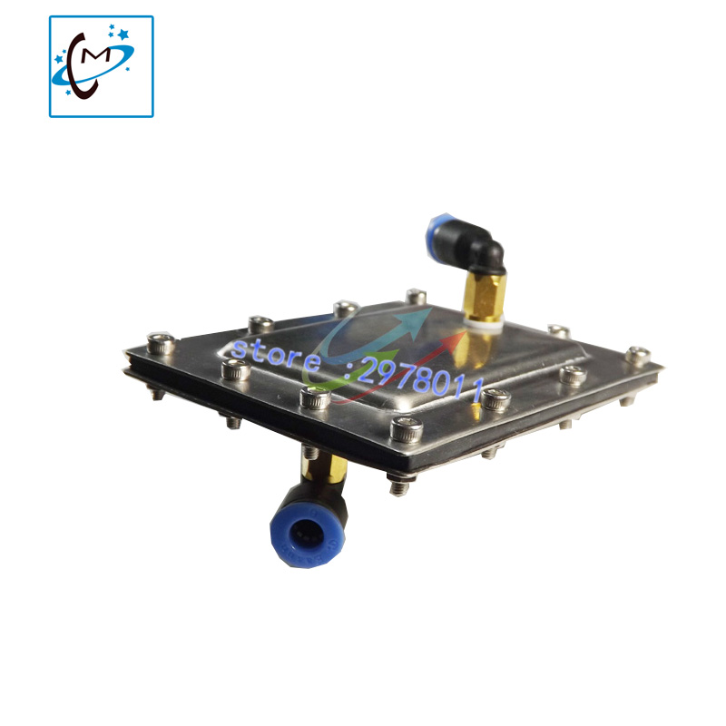 Best quality !!! Thunderjet large format printer metal ink pall filter Gongzheng spectra 512 polaris printhead solvent damper hot sale uv flatbed plotter printer spare parts gongzheng gz thunderjet black sub ink tank with level sensor