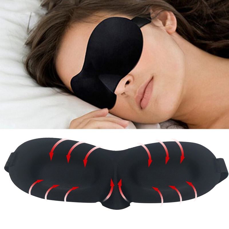 купить 3D Soft Night Sleep Mask Travel Rest Aid Eye Sleep Mask Cover Eye Patch Sleeping Mask Case Blindfold Eye Mask Eyeshade Massager недорого