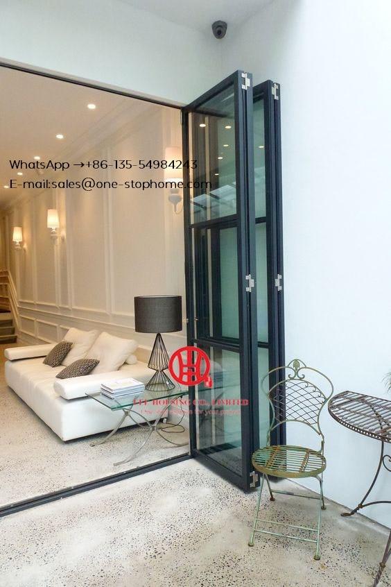 Soundproof Souble Aluminium Folding Home Bi-Fold Door,Energy Saving Bi-folding Doors,Exterior Patio Bi Fold Doors