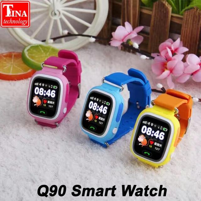 4db8b179c40 GPS Q90 Smartwatch Touch Screen WIFI Positioning Children Smart Wrist Watch  Locator PK Q50 Q60 Q80 for Kid Safe Anti-Lost