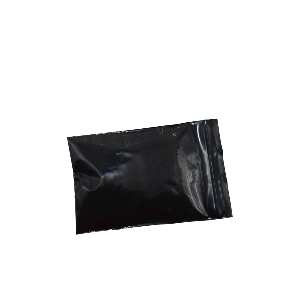 8*12cm Black Opaque Plastic Zip Lock Package Bags Wholesale 200pcs/lot Heat Sealable PE Grocery Ziplock Packing Pouch