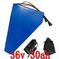 36 В батарея 36 В 30ah электрический велосипед батареи 36 В 30ah литиевая батарея с 30A BMS + 42 В 5A Зарядное устройство Бесплатная доставка