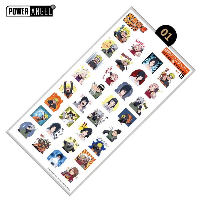 Classic Anime Naruto Luxury Stickers For Mobile Phone Laptop Book Plastic Transparent Decal Toy Sticker Gift
