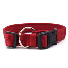 Durable Adjustable Sofe Fashion Nylon Pet Dog Collar for Large medium Small Dogs
