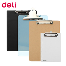 цены Deli writing board clamp board clip translucent folder A4 pad plate clip A5 wood plastic hanging workshop office stationery