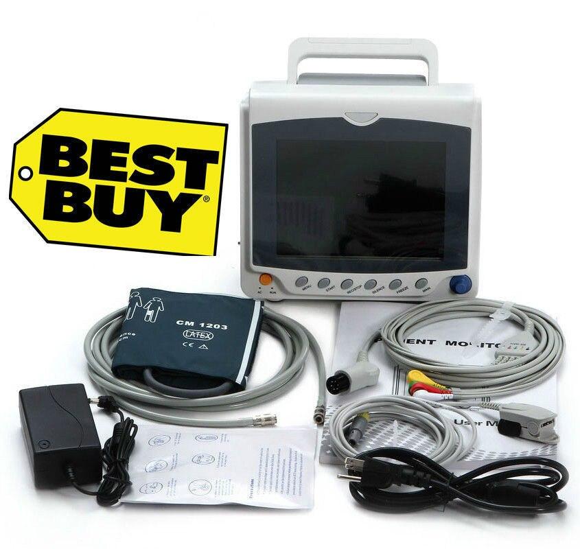 Hot/UTI Monitor Paciente CCU, ECG + NIBP + Taxa de Pulso + SPO2, Impressora opcional, CMS6000C