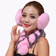 Winter Earmuff Fur Rabbit Multi-Colored Russia Earflap Womens Real Rabbit Fur Earflap For Women Fashion 2016 New Hot Sales