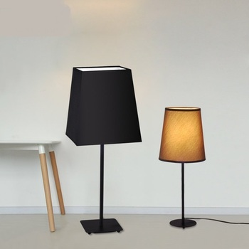 Simple cloth table lamps warm main bedroom bedside study dressing white / black/red/coffee color table lights ZA