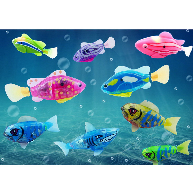 1 Pcs Infants Electronic Pets Fish Toy Baby Activated Battery Powered Can Swim Clown Fish Toy Children Kids Robotic Pet