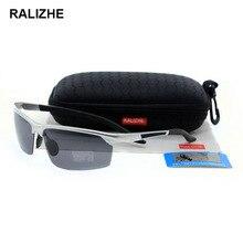 RALIZHE Brand Mens Womens HD TAC Polarized Sunglasses Aluminum Magnesium Alloy Sport Designer Sun Glasses UV400 Half Frame