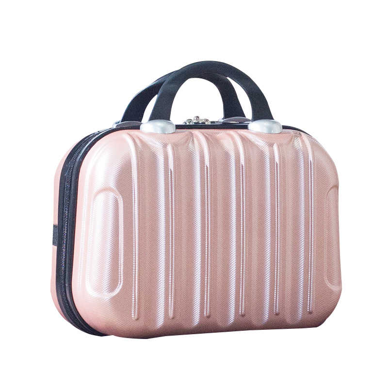 4f36a39323 Waterproof Fashion Makeup Suitcase Cartoon Travel Cosmetic Pouch ABS Women Toiletries  Case Beauty Tote Cute Handbag