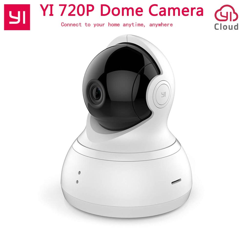 Internation Edition XIAOMI YI Dome Home Camera 112 Degree 720P Night Vision IP Camera 360 Wide Angle PTZ Shooting WiFi Webcam