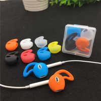 2 uds auriculares de silicona caso oreja gancho de alas de gancho casos para Apple airpods iphone auriculares para iphone