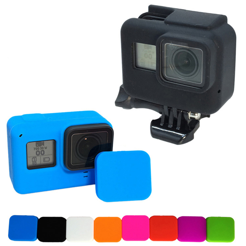 For Gopro Hero 8 Accessories Soft Silicone Case Protection Lens Cover For Go Pro Hero 8 7 6 5 Black Action Camera Standard Frame