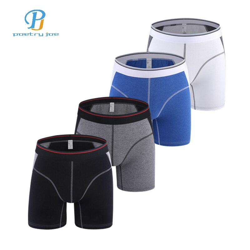 4pcs/lot Men Underwear Boxers Hommes Cotton Panties For Man Long Boxer Mens Shorts Cueca Masculina Plus Size Sexy Boxer Shorts