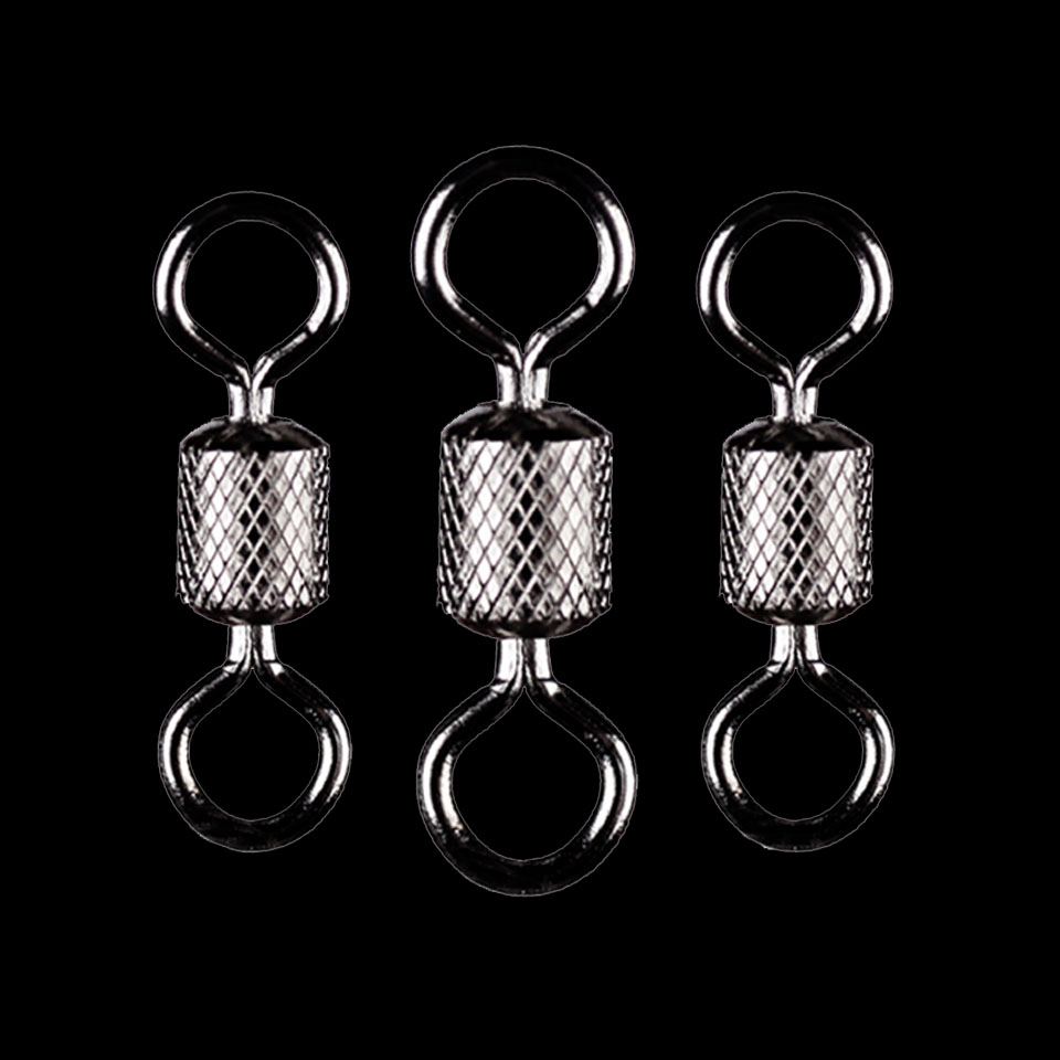 WALK FISH 50PCS/Lot Fishing Swivels Ball Bearing Swivel With Safety Snap Solid Rings Rolling Swivel For Carp Fishing Accessories