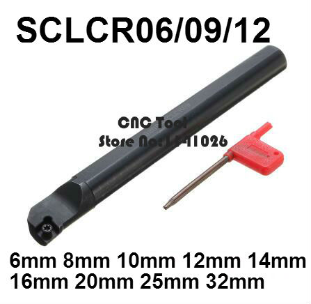 1PCS 6mm 8mm 10mm 12mm 14mm 16mm 18mm 20mm 25mm 32mm SCLCR06 SCLCR09 SCLCR12 SCLCL06/09/12 The Right/Left Hand CNC Turning Tools