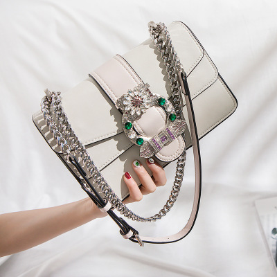 Women Brand Desinger Rhinestones Leather Shoulder Bags Small big Crossbody Bag with Chain Girls Ladies Bags