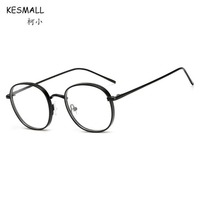KESMALL New Kroean Computer Glasses Frame Man Woman Gold Color ...